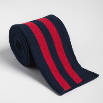 Folded ribbing  NAVY BLUE/RED XL 140 cm