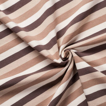 Stripes CAFFE LATTE - 200g knited jersey  >185cm!<