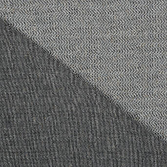 Knit fabric with linen HERRINGBONE GREY