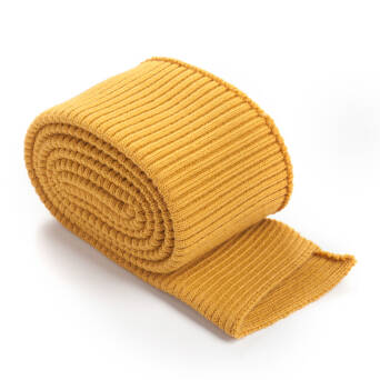 Folded ribbing RETRO OCHER
